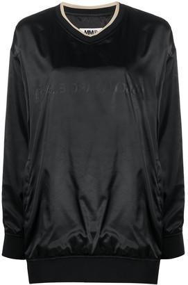 MM6 MAISON MARGIELA Tonal Logo Shiny Sweatshirt