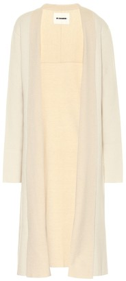 Jil Sander Stretch wool and cashmere longline cardigan