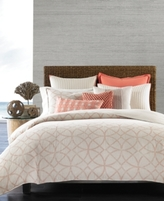 Hotel Collection Textured Lattice Linen King Duvet Cover, Created for Macy's
