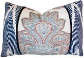 Kim Salmela Lotus 16x24 Cotton Pillow - Blue