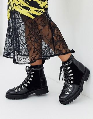 Grenson Nanette leather hiker boot