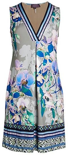 Hale Bob V-Neck Floral Sheath Dress