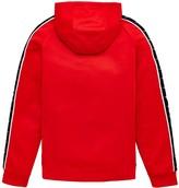 Nike Sportswear Older Boys Swoosh Tape Hoodie - Red