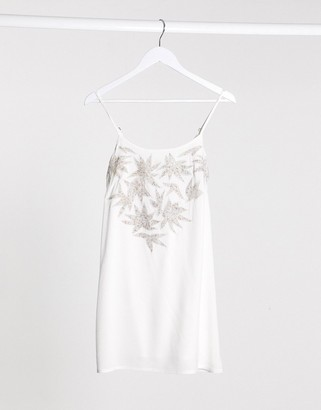 Raga lotus love mini dress in white