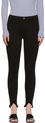 Frame Black Le High Skinny Double Triangle Jeans
