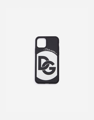 Dolce & Gabbana Rubber Iphone 11 Pro Max Cover With Crossover Logo
