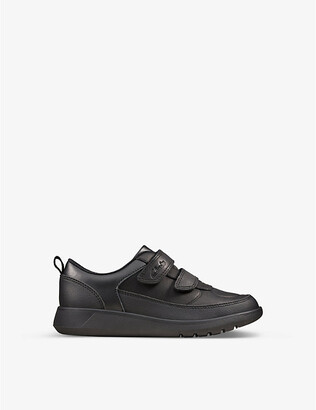 Clarks Scape Flare leather trainers 5-8 years