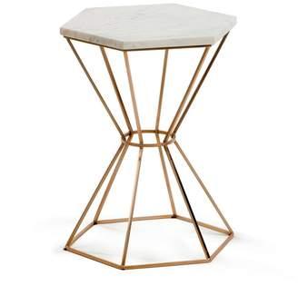 La Forma Australia Ditto Copper Side Table With Marble Top