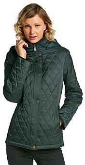 Esprit Hooded Snap Front Quilt Jacket