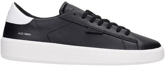 D.A.T.E Ace Mono Sneakers In Black Leather