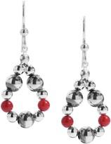 American West Sterling Small Bead Loop Earrings