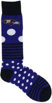 For Bare Feet Baltimore Ravens Dots and Stripes 538 Socks