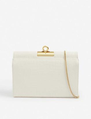 Gu_de Luxy croc-embossed leather shoulder bag