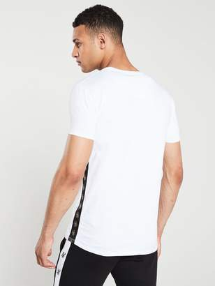SikSilk Side Tape T-Shirt - White