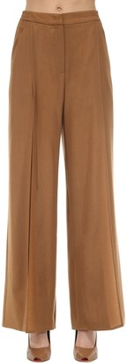 Agnona Wide Leg Wool & Cashmere Pants