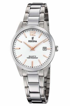 Festina F20509/2 Women's Watch Stainless Steel 5 Bar Analogue Date Silver