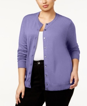 Karen Scott Plus Size Cardigan, Created for Macy's