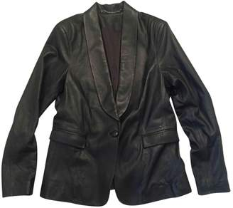 Iris & Ink Black Leather Jacket for Women