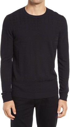 HUGO BOSS Shiny Relaxed Fit Crewneck Sweater