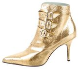 Sigerson Morrison Metallic Leather Ankle Boots