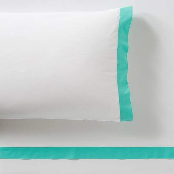 Pottery Barn Teen Suite Organic Sheet Set, Twin/Twin XL, Pool