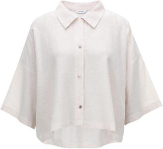 LE 17 SEPTEMBRE Le17 Septembre Linen-Cotton Cropped Shirt