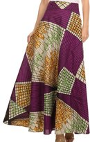 Sakkas SK16318 - Garan Long Opaque Fully Adjustable Printed Skirt Wrap Around Without Slit - OS