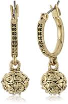 Nine West VINTAGE AMERICA Gold-Tone Drop Off Hoop Earrings