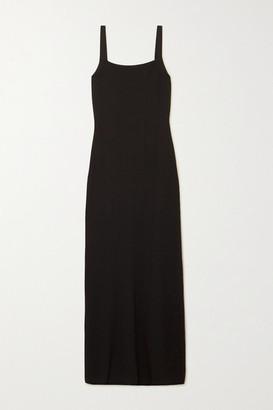 Matteau - Open-back Stretch-knit Maxi Dress - Black
