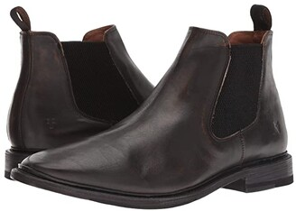 Frye Paul Chelsea (Black Brush-off Full Grain) Men's Shoes