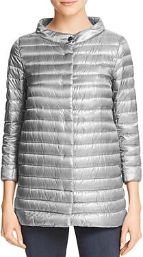 Herno Nylon Three Quarter-Sleeve Down Coat