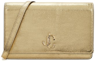 Jimmy Choo Palace Gold Leather Wallet-on-chain
