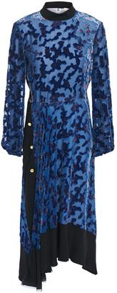 Tory Burch Leah Floral-print Devore-chiffon Midi Dress