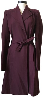 Martine Sitbon Burgundy Wool Trench Coat for Women Vintage