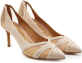 Salvatore Ferragamo Suede Pumps with Mesh