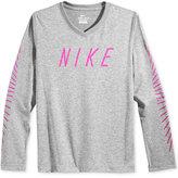 Nike Dri-FIT Matchstick T-Shirt, Big Girls (7-16)