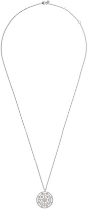 Astley Clarke 14kt white gold diamond large Icon Nova pendant necklace