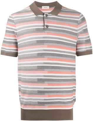 Ermenegildo Zegna Jacquard Stripe Polo Shirt