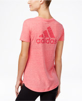adidas Logo Heathered V-Neck T-Shirt