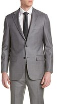 Hickey Freeman Milburn Ii Wool Suit With Flat Front Pant.