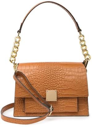 Persaman New York Felize Croc-Embossed Leather Crossbody Bag
