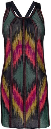 M Missoni Diamond-Knit Mini Dress