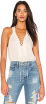 BCBGMAXAZRIA Lace Up Tank in Cream. - size L (also in M,S,XS)