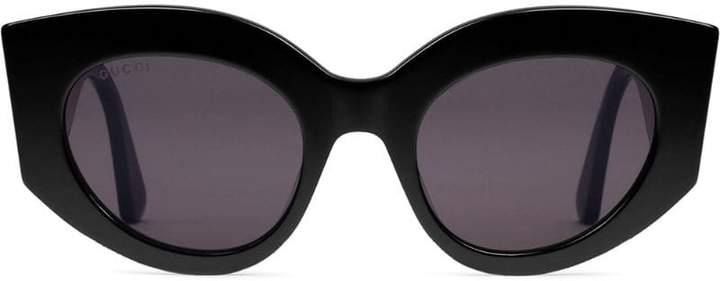 06b9d0ff95d Gucci Metal Cat s Eye Sunglasses - ShopStyle