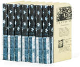 One Kings Lane Linear Foot of USA Flag Books - Blue