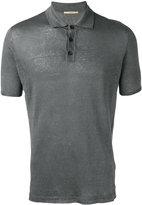 Roberto Collina knit polo shirt - men - Linen/Flax - 48