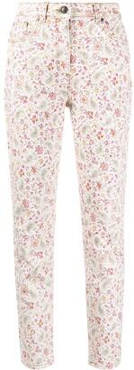 Etro Floral-Print Skinny Jeans
