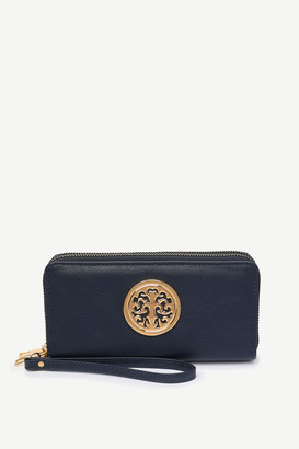 Ardene Faux Leather Medallion Wallet