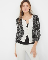 White House Black Market Lace-Detail Cardigan
