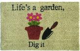 Asstd National Brand Life's a Garden Rectangular Doormat - 18X30